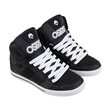 Osiris Clone Mens Black Leather Sneakers Lace Up Skate Shoes