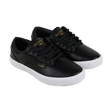 Osiris Slappy Vlc Mens Black Leather Sneakers Lace Up Skate Shoes