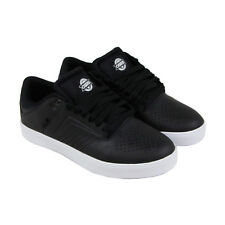 Osiris Techniq Vlc Mens Black Leather Sneakers Lace Up Skate Shoes