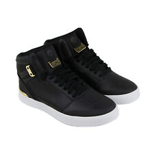 Osiris Cultur Mens Black Leather Sneakers Lace Up Skate Shoes