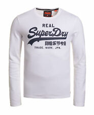 New Mens Superdry Vintage Logo Long Sleeve T-shirt Optic