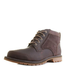 Mens Timberland Larchmont Chukka Gaucho Dark Brown Leather Boots Sz Size