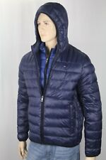 Tommy Hilfiger Navy Blue Packable Hooded Ultra Loft Ski Puffer Coat NWT $195
