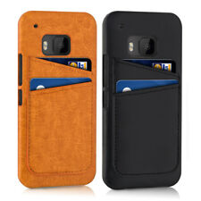 COVER PER HTC ONE M9 CUSTODIA RIGIDA CASE IN PELLE PU