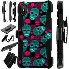 Lux-Guard For iPhone 6/7/8 PLUS/X/XR/XS Max Phone Case Cover TEAL SKULL