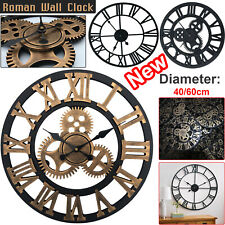Large Traditional Vintage Style Wall Clock Roman Numerals Home Decor Gift Round