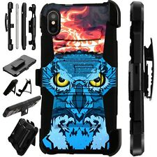Lux-Guard For iPhone 6/7/8 PLUS/X/XR/XS Max Phone Case Cover FLAMING OWL