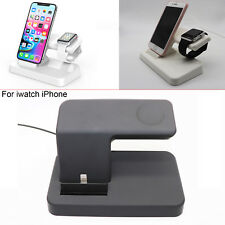 For Apple Watch iWatch iPhone 5V/2.5A 2 in 1 Charging Dock Stand Mount Holder