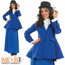 Victorian Nanny Ladies Fancy Dress Book Day Character Adult Costume Outfit + Hat