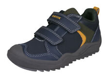 Geox J Artach B.A. Boys Casual Trainers Double Strap Closure Shoes Navy