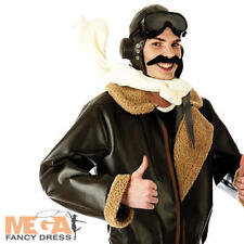 Biggles Fighter Pilot Mens Fancy Dress 1940s 1930s Army Military Adults Costume