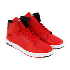 Supra Vaider 2.0 Mens Red Mesh High Top Lace Up Sneakers Shoes
