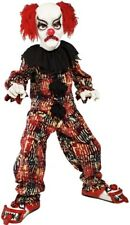 Boys Girls Deluxe Scary Clown Halloween Horror Scary Fancy Dress Costume Outfit