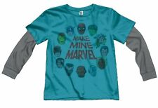 Nuevo Junk Food Make Mina Marvel Infantil Camisa de Manga Larga