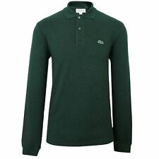 LACOSTE POLO SHIRT MENS PIN MOULINE LONG SLEEVE TOP