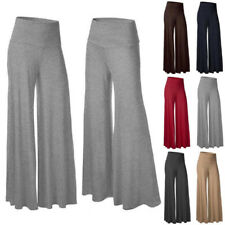 High Flared Size Pants Hot Trousers Leg Palazzo 2017 Waist Wide Loose Women's