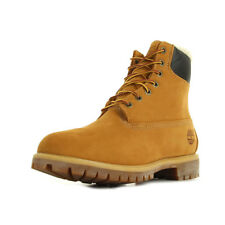 Chaussures Boots Timberland homme 6 In Fur Warm Wheat Nubuck Lined taille Jaune