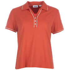 Womens Ashworth Golf Polo Shirt In Orange From Get The Label