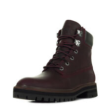 Chaussures Boots Timberland femme 6 in London Square taille Bordeaux Cuir Lacets