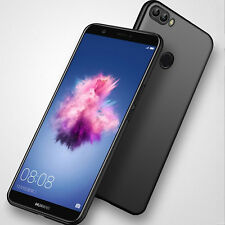For Huawei P Smart Black Ultra Slim Soft Silicone TPU Matte Back Case Cover UK