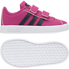 a00c9971053 adidas VL Court 2.0 CMF Infants Girls B75986 Pink Casual Trainers UK 5.5
