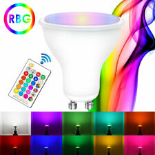 GU10 5W 16 Color Changing RGB Dimmable LED Light Bulb Integrate Lamp Remote Spot