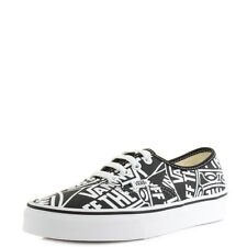 c3a39e18773 Vans Authentic (Off The Wall) Black True White Classic Canvas Trainers Sz  Size