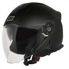 CASCO JET ORIGINE PALIO 2.0 NERO BLUETOOTH CON VISIERA LUNGA NEW 2019