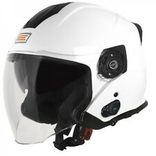 CASCO JET ORIGINE PALIO 2.0 BIANCO CON BLUETOOTH VISIERA LUNGA NEW 2019