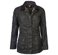 BARBOUR CLASSIC BEADNELL WAX JACKET JACKET WAXED WOMAN 8 10 WATERPROOF
