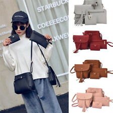 4Pcs Women Ladies Leather Handbag Shoulder Tote Purse Satchel Messenger Bag CHZ