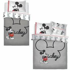 Disney Mickey Mouse Jersey Panel Duvet Set Bed Quilt Cover Pillowcase Bedding