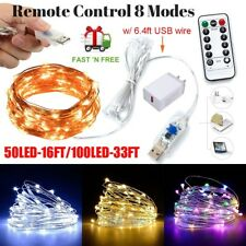 8Modes USB Powered Copper Wire LED String Fairy Light for Christmas Party Decor