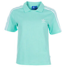 Womens adidas Originals Polo T-Shirt In Easy Green