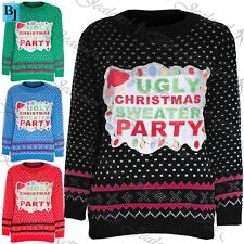Womens Jumper Ladies Pullover Snow Flakes Ugly Christmas Sweater Sweater Top