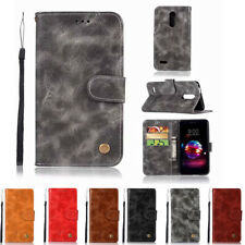 For LG Aristo 2 /LG Tribute Dynasty /LG Fortune 2 Flip Cover Leather Wallet Case