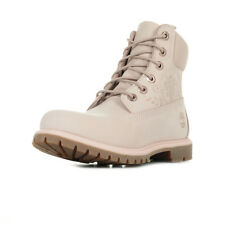 "Chaussures Boots Timberland femme 6"" Premium Boot ""Icone"" taille Rose Nubuck"