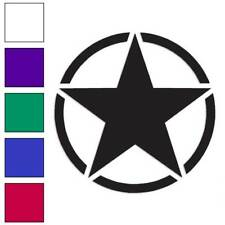 Army Star Decal Sticker Choose Color + Size #69