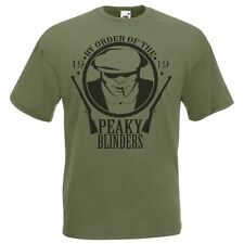 Mens Olive Green By Order Of The Peaky Gang TV Series Thomas Shelby T-Shirt
