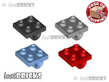 10 Pack of NEW LEGO Plates 2x2 Modified with Pin Holes (Part 2817) SELECT COLOUR