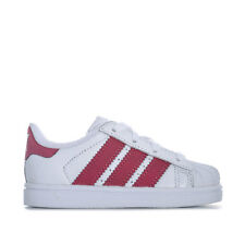 Infant Girls adidas Originals Superstar Trainers In White- Lace Fastening-