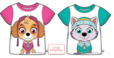 Official PAW Patrol Sky & Everest Character 100% Cotton T-Shirt TWIN PACK