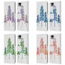 OFFICIAL CAT COQUILLETTE PINE TREES LEATHER BOOK CASE FOR ASUS ZENFONE PHONES