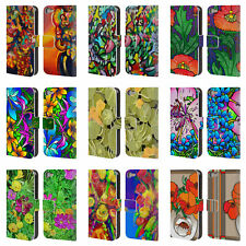 OFFICIAL HOWIE GREEN FLOWERS LEATHER BOOK CASE FOR APPLE iPOD TOUCH MP3