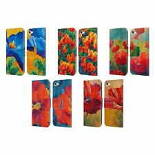 OFFICIAL MARION ROSE FLOWERS LEATHER BOOK CASE FOR APPLE iPOD TOUCH MP3