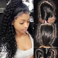 Curly Baby Hair Brazilian Virgin Human Hair Lace Front Wig Black Full Lace Wigs
