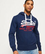 New Mens Superdry Sweat Shirt Store Fade Hoodie Princeton Blue Marl