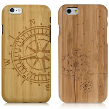 FUNDA PROTECTORA DE BAMBÚ NATURAL PARA APPLE IPHONE 6 6S