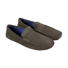 Steve Madden Upswing Mens Gray Suede Casual Dress Slip On Loafers Shoes