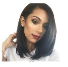 Short Side Part Bob Human Hair Wig Brazilian Full Lace Front Wig For Black Girl